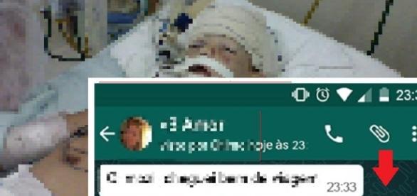Jovens vão parar no hospital depois de receber mensagens sinistras