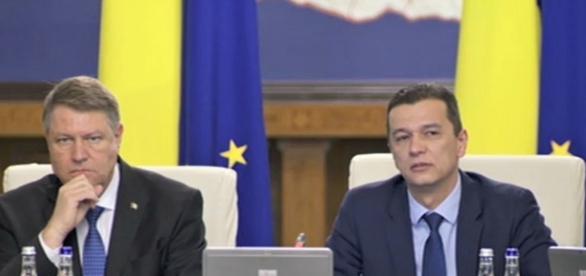 Klaus Iohannis şi Sorin Grindeanu