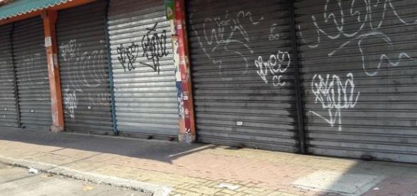 Comércio fechado no Engenho Novo. Foto: Jornal O dia IG