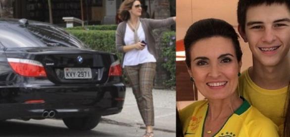 Fátima Bernardes teve filho acidentado
