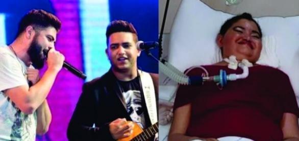 Henrique e Juliano cantam para pacientes de UTI e emocionam