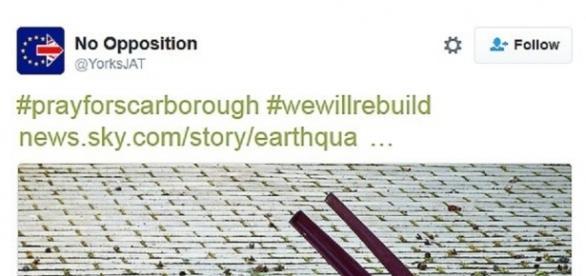 Imagini ironice de dupa cutremur