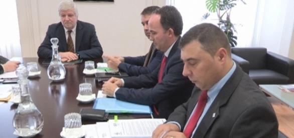Secretário de Estado da Administração Interna, Jorge Gomes, reunido com a Associação Nacional de Bombeiros Profissionais.
