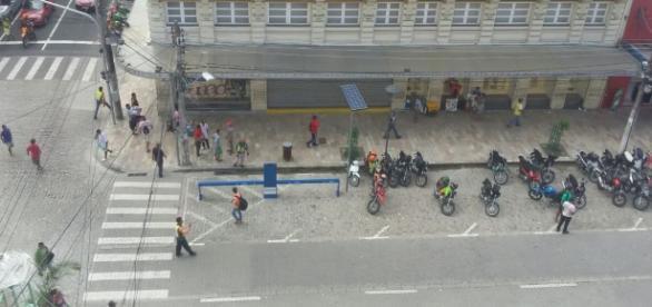 As ruas do centro da capital amazonense ficaram vazias. Momentos de pânico e terror