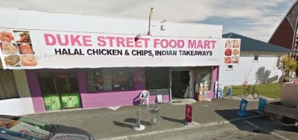 Dairy store in Duke Street Hastings, New Zealand / Photo Public Domain Google Maps