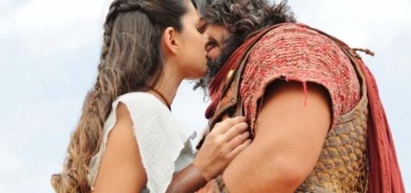 Os momentos de felicidade de Aruna e Josué durarão pouco tempo na trama da Record