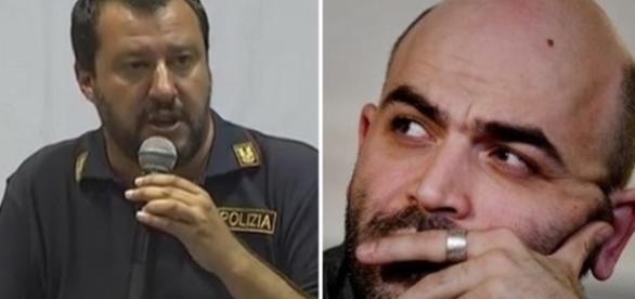 Roberto Saviano e Matteo Salvini protagonisti insieme a Giorgia Meloni della polemica sui sindaci africani al Sud