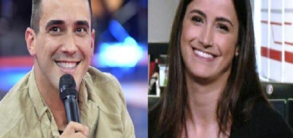 André Marques flerta com jornalista