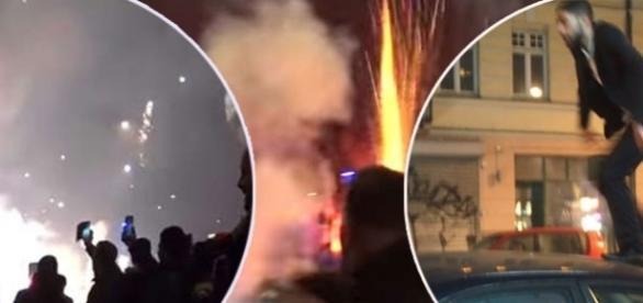 Imigranții au transformat centrul orașului Malmo într-un adevărat infern la trecerea în Noul An - Foto: YouTube/Freddy Mardell