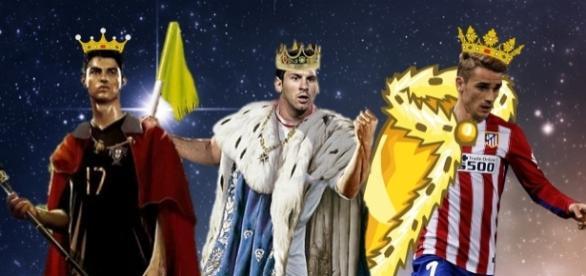 Los reyes magos del fútbol: Messi, CR7 y Griezmann