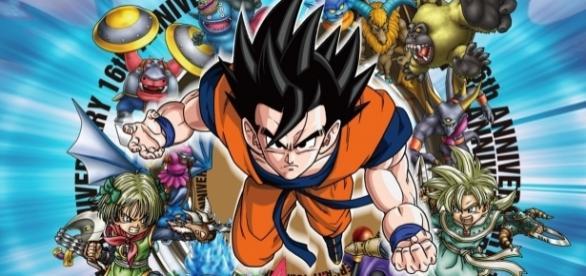 Poster de la revista V-Jump con Goku