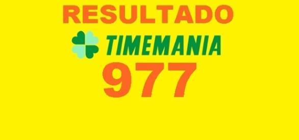 Resultado do jogo da Timemania 977