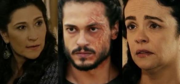 Léia, Tobias e Yana em 'A Terra Prometida' (Divulgação/Record)