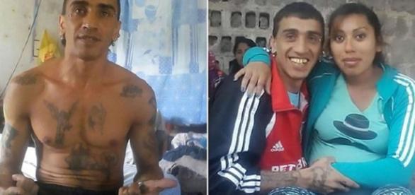 Na primeira imagem, o assassino sozinho na cela; na outra, ele e a segunda vítima