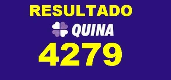 Resultado do jogo da Quina 4279