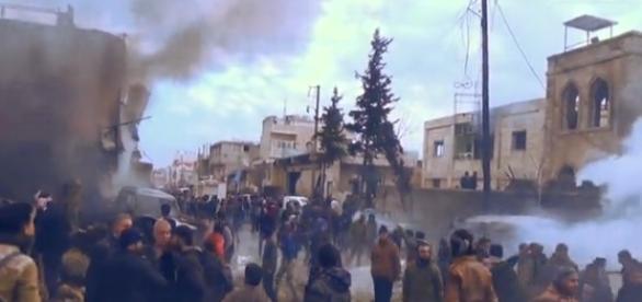 Sanguinoso attentato dell'Isis in una città della Siria.