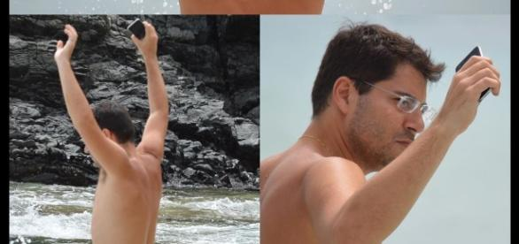 Evaristo Costa aparece sem camisa em foto na praia e fãs pedem ... - com.br