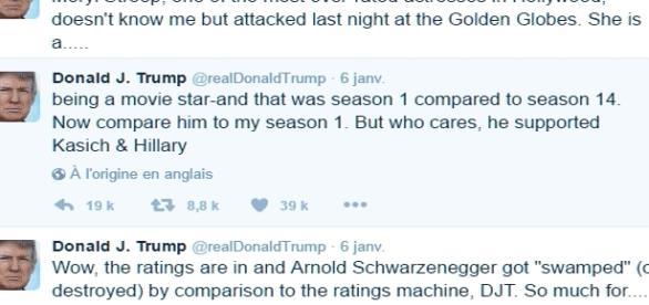 Trump s'est gardé de répondre au président mexicain, mais il se répand sur les célébrités de l'écran sur Twitter