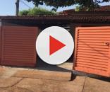Casa onde ocorreu o crime (Foto: Captura de vídeo)