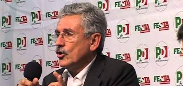 L'ex segretario dei Ds, Massimo D'Alema