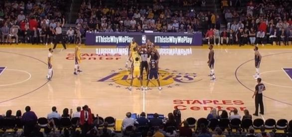 The Los Angeles Lakers lost to the Utah Jazz Tuesday, 105-99 -- Ximo Pierto via YouTube