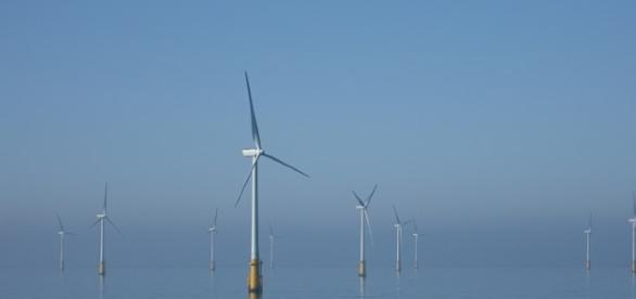 Wind farm generating energy when ocean based - Image - Andy Dingley | Wikimedia
