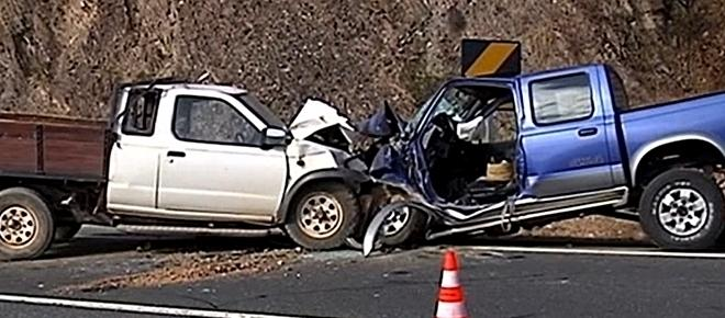 Dois condutores morreram ao chocar frontalmente no IC1