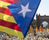 Marș pentru independență la Barcelona, octombrie 2017