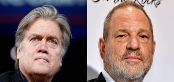 Steve Bannon, Harvey Weinstein, via Twitter