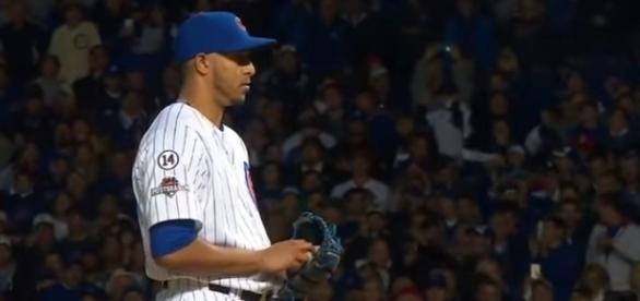 Hector Ronon pitching in 2015 Postseason - image - MLB / Youtube
