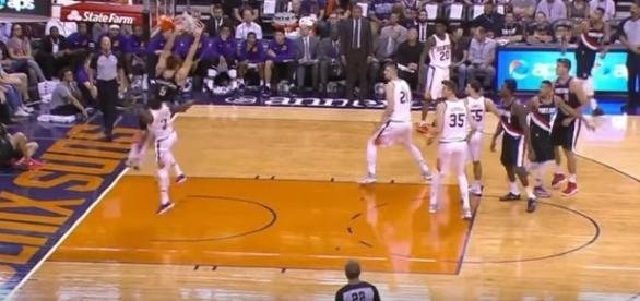 The Portland Trail Blazers beat the Phoenix Suns on October 11. -- YouTube screen capture / ESPN