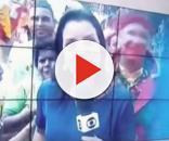 Pedófilo passa mão em menina durante transmissão ao vivo da Globo (Foto: Captura de vídeo)