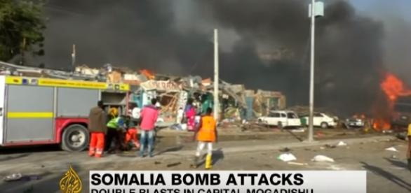Somalia: Mogadishu rocked by twin bomb blasts, dozens killed -Image credit - Al Jazeera English | YouTube
