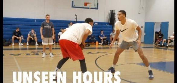 Jayson Tatum dreams of guarding LeBron James. (Image Credit - Pure Sweat Basketball/YouTube Screenshot)