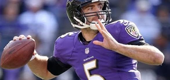 Joe Flacco and the Ravens host the Chicago Bears in Sunday's early NFL action. [Image via NFL/YouTube]