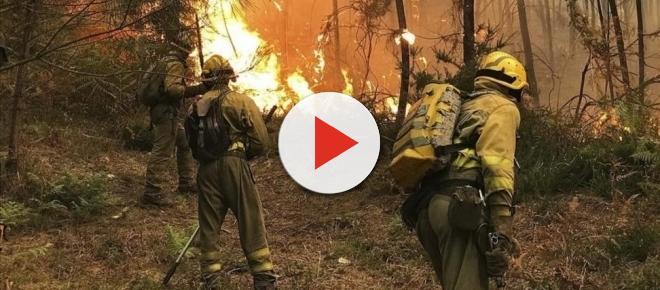 Galicia sigue su lucha contra a los incendios