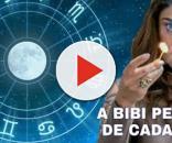 Montagem do zodíaco com a personagem Bibi