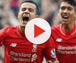Philippe Coutinho celebrando no Liverpool
