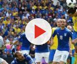 Una fase di Italia-Svezia giocata agli Europei 2016