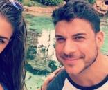 Brittany Cartwright and Jax Taylor enjoy a pond. [Photo via Instagram]
