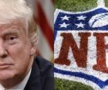 Donald Trump, NFL logo, via Twitter