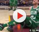 Celtics star, Gordon Hayward, suffered a leg injury during the game against the Cavaliers. NBA Conference/YouTube screen cap