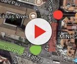 En Verde la nueva localizacion de la Falla y la carpa, en rojo la de años anteriores