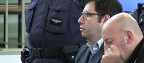 Valentino Talluto nell'aula bunker di Rebibbia a Roma: è accusato di aver contagiato 30 donne con il virus dell'Hiv. Foto: Facebook.