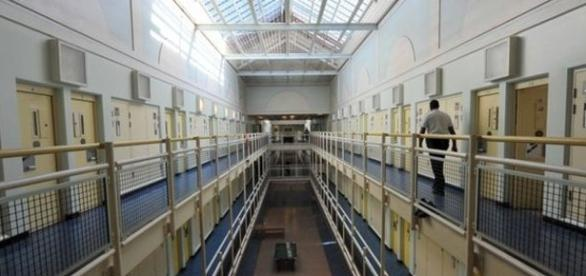 A cell block at London's Wormwood Scrubs prison.