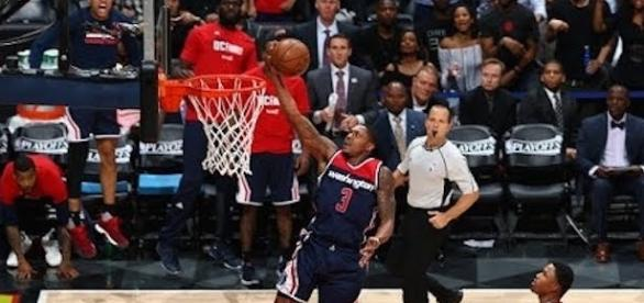 Bradley Beal and the Wizards start their season Wednesday night as they host the 76ers. [Image via NBA/YouTube]