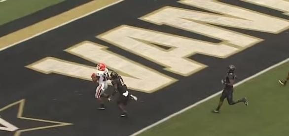 Georgia is now 7-0 this season and first place in the SEC East. -- YouTube screen capture / ESPN