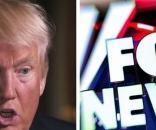 Donald Trump and Fox News, via Twitter