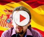 Pablo Iglesias y la bandera de España