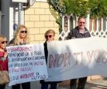 Renzi contestato nella scuola di Pescara